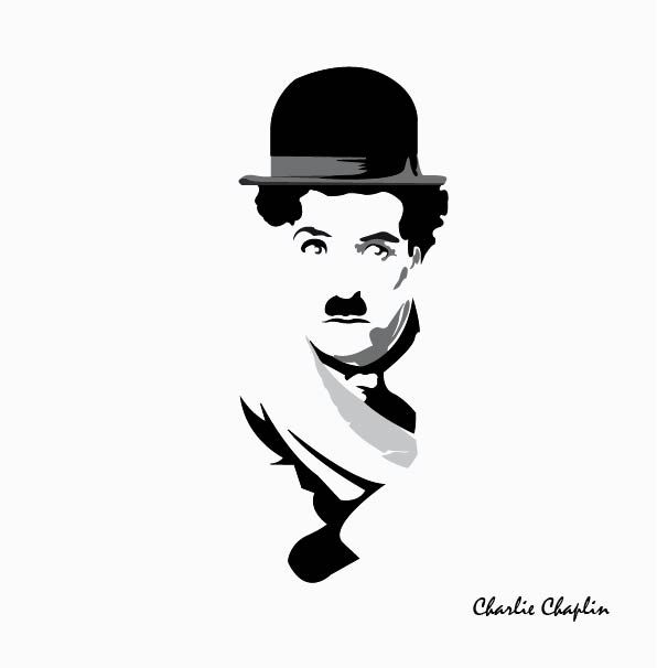 "Charlie  Chaplin illustration from movie ""The kid"" directed by Charlie Chaplin in 1921"