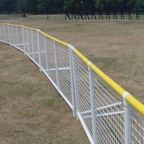 Sport Supply Group K35603 SportPanel with Yellow Safe Top by Sport Supply Group. $251.99. SportPanel fencing is lightweight and durable. Constructed from custom extruded PVC with U.V. inhibitors to prevent weathering. Each Panel is 44 high x 10-6 long and comes with (1) free foam connector and (2) free anchoring wickets for legs. Panels come White or Black. Black helps batter see white ball when placed in center field behind pitcher. Panels come with ...