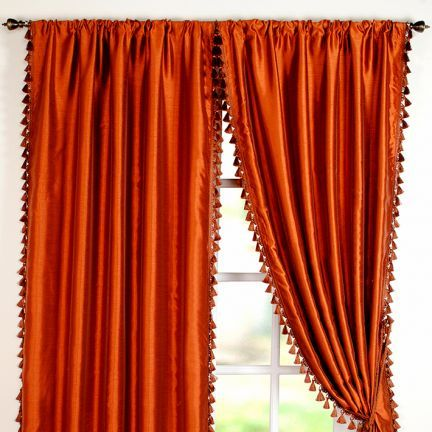 Deco Window Solid Door Curtain Orange - Your heart will skip a beat for this orange coloured curtain owing to its attention-grabbing look. This chic polyester curtain will add vividness to the dull settings.Note: Please note that the product is being sold as a single/1 piece only. The image shown is for representational purpose only.