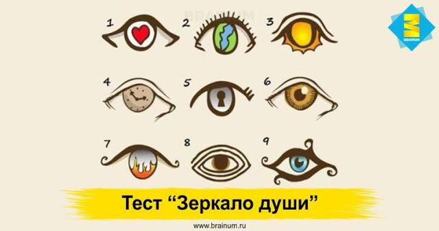 "Тест ""Зеркало души"". Глаза не могут лгать - Brainum"