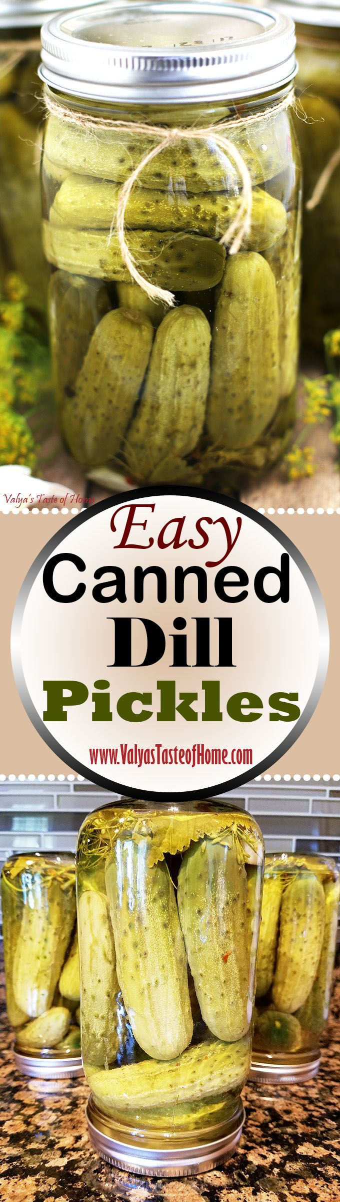 These pickles are crunchy and salty. I've always enjoyed them on the savory side more than the delicious side. I have tried pickles made more on the sweet side and enjoyed by other, but I just prefer my mom's recipe. Of course, right? These pickles truly are tasty, crisp and rich. They're fantastic in my potato salad (Olive). They add that salty/sour taste. Also, a great side for just about anything plov, potato dishes, eggs, etc… | www.valyastasteofhome.com