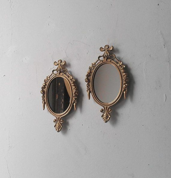 Small Wall Mirror Set of Two in Traditional by SecretWindowMirrors, $34.00