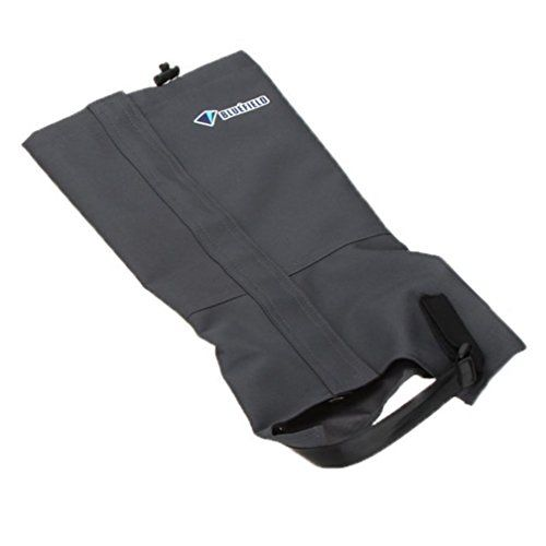 BLUE FIELD Guetres Jambieres impermeable pour ski randonnee pedestre Escalade coupevent Gaiters Protection des jambes Taille L Gris * Read more reviews of the product by visiting the link on the image.