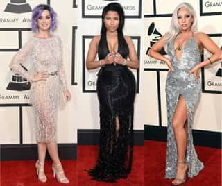 Katy Perry Nicky Minage Lady Gaga en el #Redcarter de la entrega de premios de los Grammys
