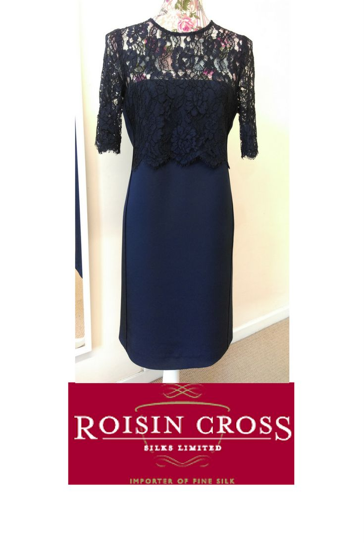 Wool crepe and solstiss lace Dress