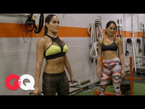 WWE's Bella Twins On The 6 Best Workout Moves - WWE's Nikki and Brie Bella are in ridiculous shape. So much so that we invited them to hit the weights and show us the six moves every guy should know in the gym. Still haven't subscribed to GQ on YouTube? ►► http://gqm.ag/YouTubeSub CONNECT WITH GQ Web: http://www.gq.com Twitter: http://twitter.com/GQMagazine Facebook: http://www.facebook.com/gq Google+: http://plus.google.com/+GQ Instagram: http://instagram.com/gq