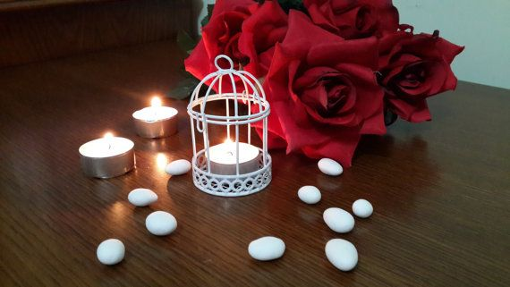 Matrimonio favore Birdcage filo matrimonio favore Birdcage filo sposa candela titolare Baby doccia favore scatola