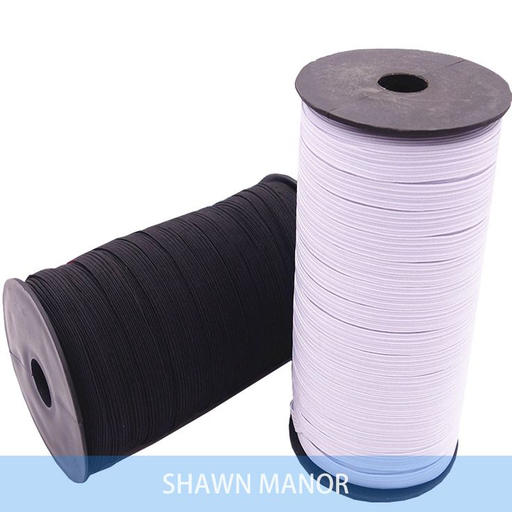 5 MM Largeur Stretch Sangles DIY Élastique Bande De Ruban Pour Couture Blanc/Noir Couleur 10 Mètres/lot