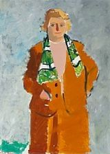 Portrait of the artists wife by Olaf Rude
