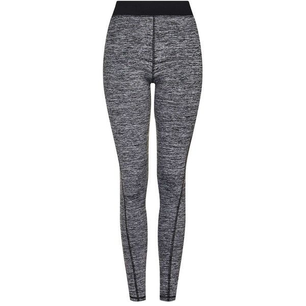 TOPSHOP Sportswear Leggings found on Polyvore featuring pants, leggings, bottoms, grey, topshop leggings, gray leggings, grey trousers, gray pants and mesh pants