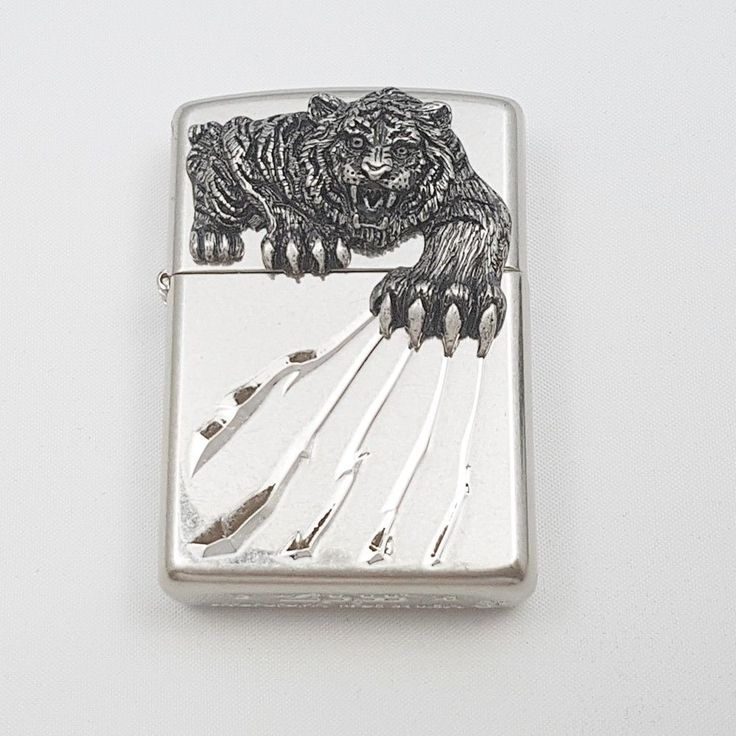 Zippo Original Lighter A Tiger Claw NA Authentic Windproof Made USA Gift 6Flints #Zippo