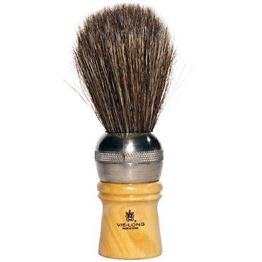 Vie-Long Cachurro Horse Hair Shaving Brush, Metal & Wood Handle