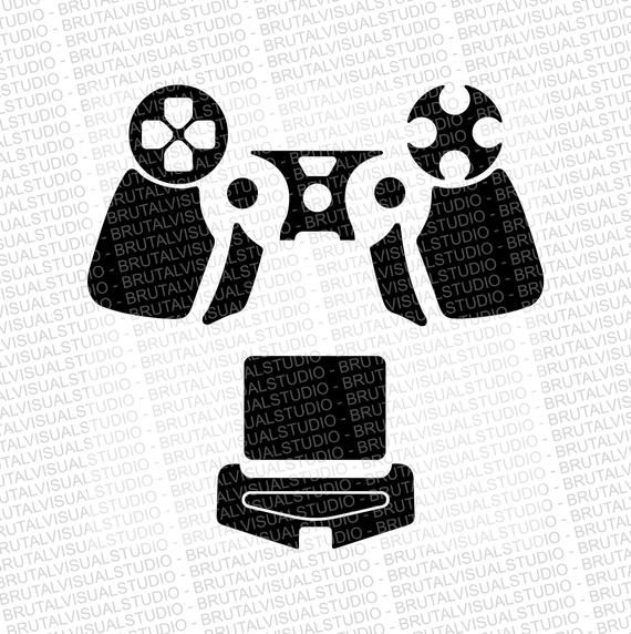 Pin On Ps4 Controller Skin Template For Silhouette Cameo