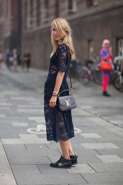 Love this lace black dress