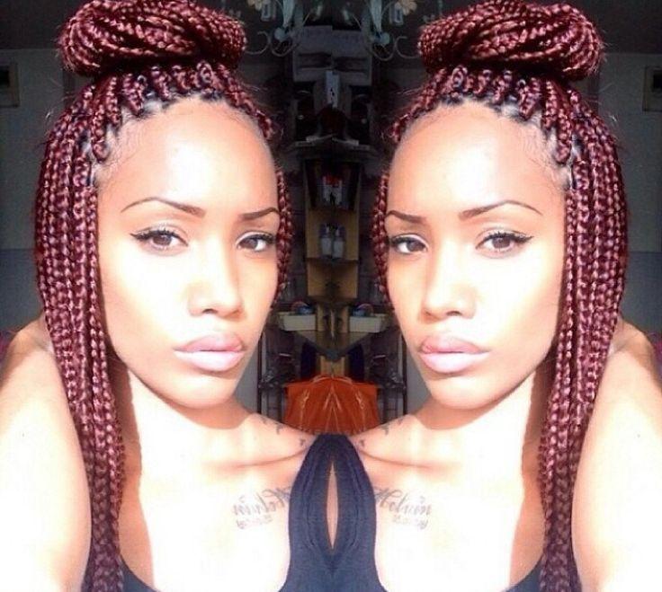 Brilliant Best 25 Single Braids Styles Ideas On Pinterest African Hair Short Hairstyles For Black Women Fulllsitofus