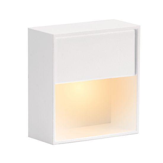 Balizador LED com corpo em alumínio 8 x 8 cm