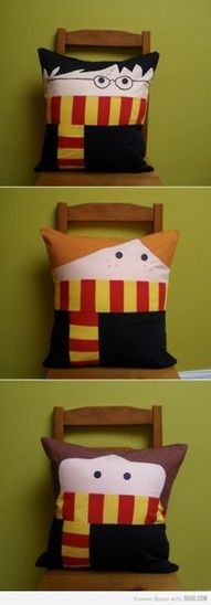harry potter pillows!                                                                                                                                                                                 More