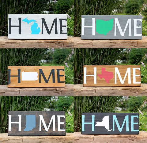 """""""Home"""" State Sign"""
