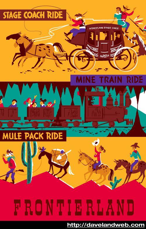 Disneyland vintage poster