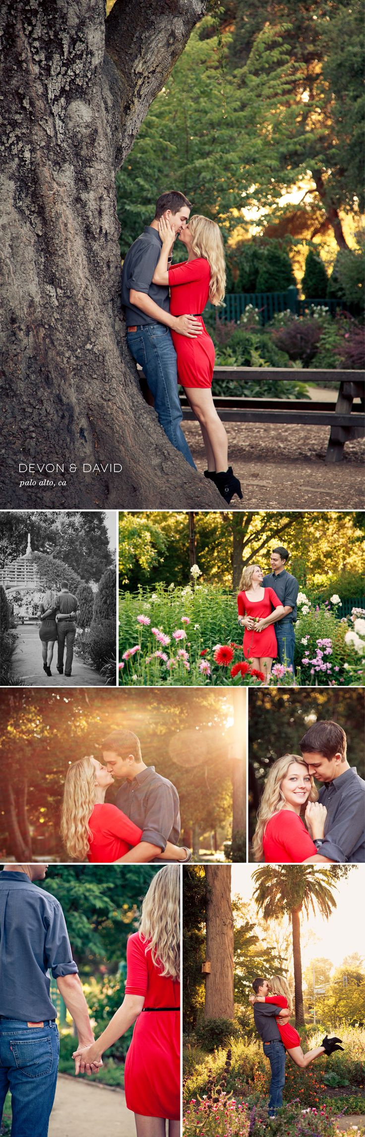 Garden Engagement Photo Session - by zhazhadesign.com