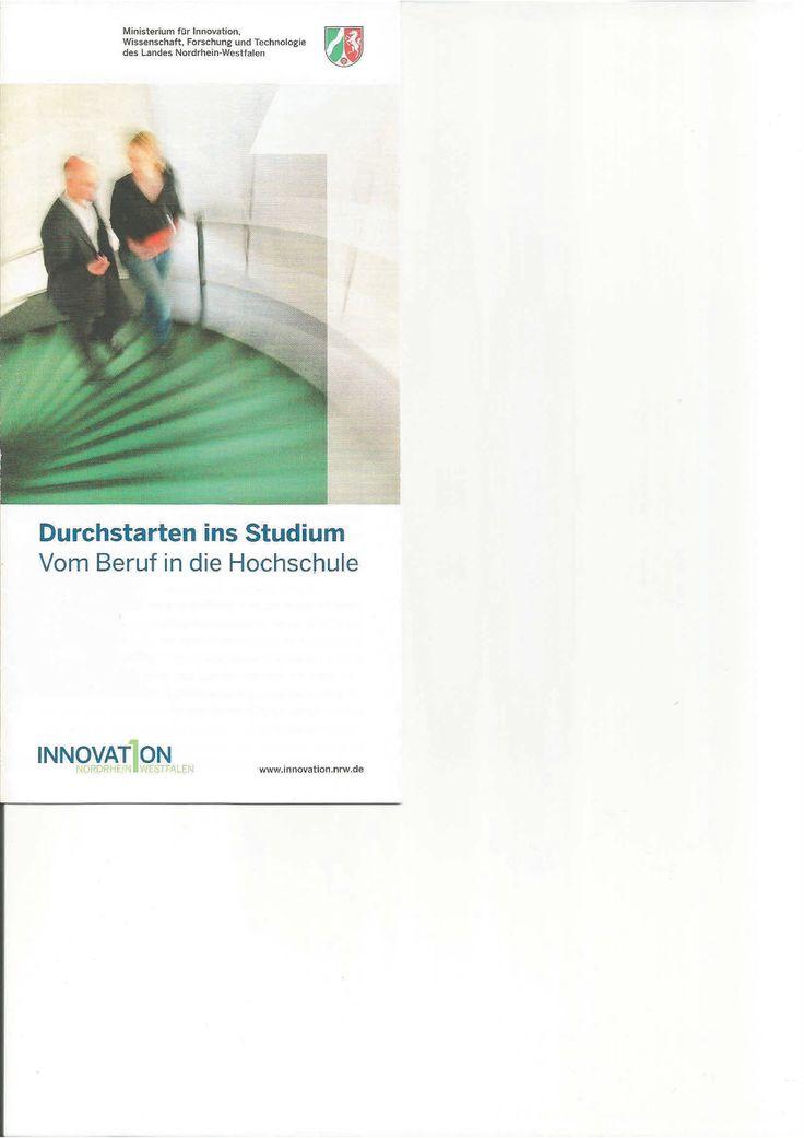 Redaktion, Gestaltung und Umsetzung eines Flyers für das Innovationsministerium NRW