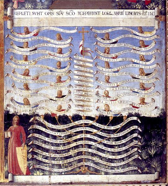 BEATO ANGELICO - Genealogia di Cristo, scena da Armadio degli Argenti - 1451-1453 - tempera su tavola - Museo di San Marco, Firenze