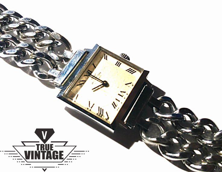 Vintage Armbanduhren - echt 60s Vintage Damenuhr Armbanduhr Kettenuhr - ein Designerstück von Mont_Klamott bei DaWanda