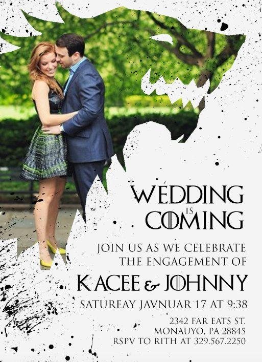 Game of Thrones Wedding/engagement Invitation by SarahJayDesign