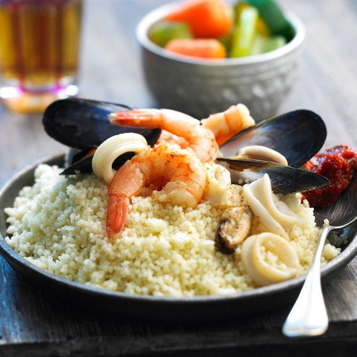 Découvrez la recette du couscous aux fruits de mer