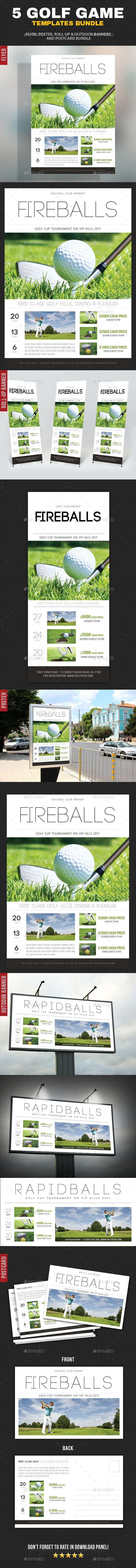 5 in 1 Golf Game Bundle by rapidgraf 5 High impact Golf Sport Activity Template Layouts, perfect for golf, sport, game, competition, tournament or any sport activity e -> Für Golf SALE und Golf Bestseller klicken!