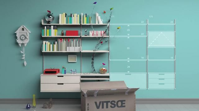 A lifetime with Vitsœ by Vitsœ. Start small, add to it, rearrange it, and take it with you when you move.
