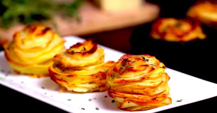 Потрясающе вкусный картофель с пармезаном и тимьяном