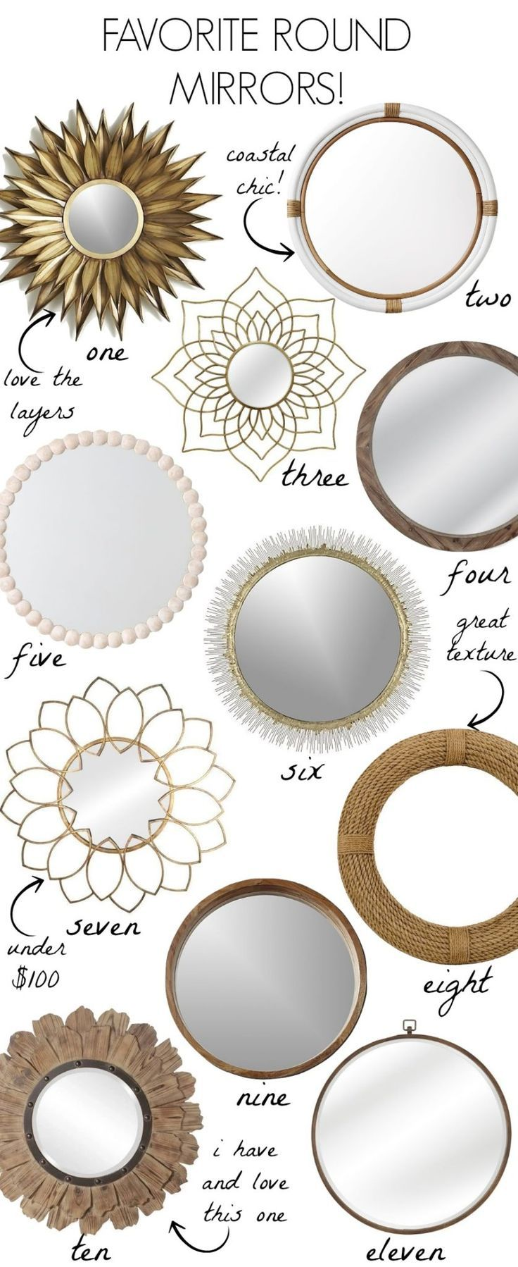 Loving These Gorgeous Round Mirrors Large Round Mirrors Wood Mirrors Gold Mirrors So Many Beautiful Round Gold Mirror Mirror Frame Diy Round Mirror Decor