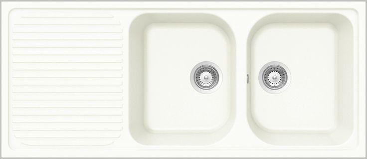 SCHOCK Lithos D-200 – Kjøkkenvask i Alpina farge – Vendbar