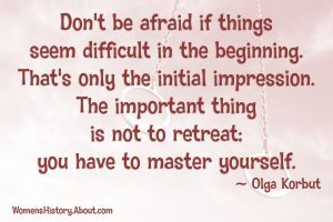 Jackie Joyner-Kersee quote on motivation and success.: Olga Korbut Quote