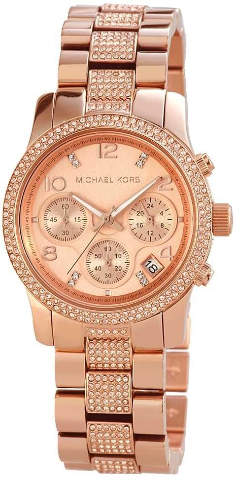 ... Zu Michael Kors Damen Uhr Chronograph Rose Gold Armbanduhr Pictures