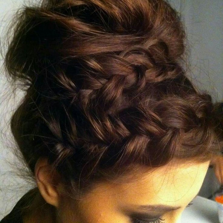 Braids with messy bun