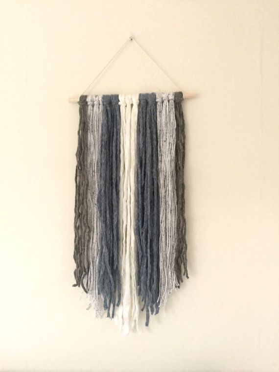 Stripey Wallhanging by ShelleysHandcrafted on Etsy