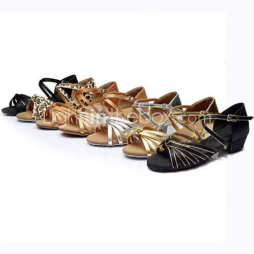 Sapatos de Dança ( Preto/Castanho/Prateado/Dourado/Leopardo/Outro ) - Mulheres - Customizáveis - Latim de 2017 por $15.29