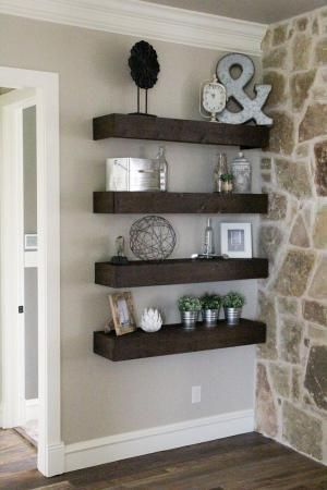 How to build floating pallet shelves #make #diy #shelves by Tanyadv