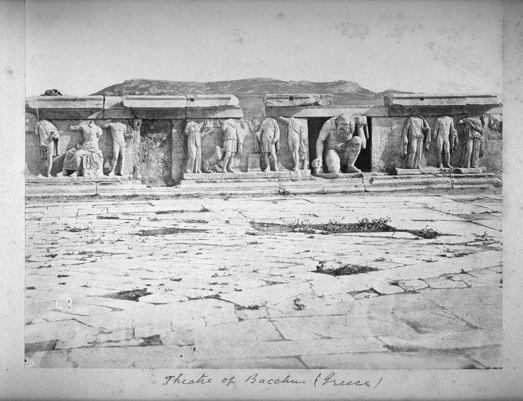 Θέατρο Διονύσου, Νότια Κλιτύ της Ακρόπολης, 1888.Από το Αλμπουμ του Χιώτη Μιλτιάδη Πατρώνα