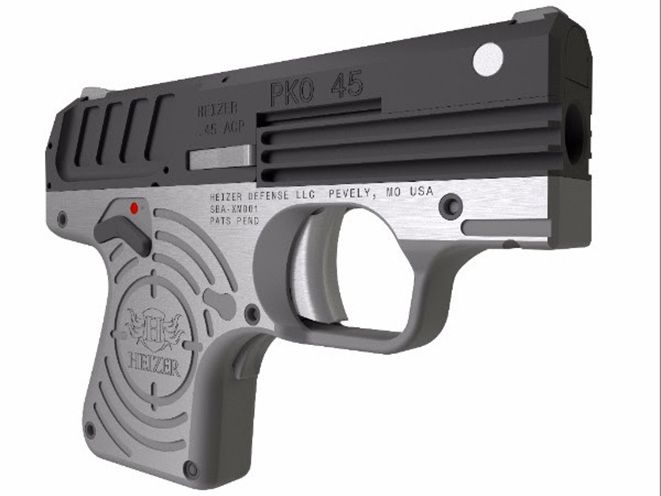 """The PKO-45 or Pocket 45, is the slimmest semi-auto .45ACP on the market at just 0.8"""" wide and approximately 25 ounces."""