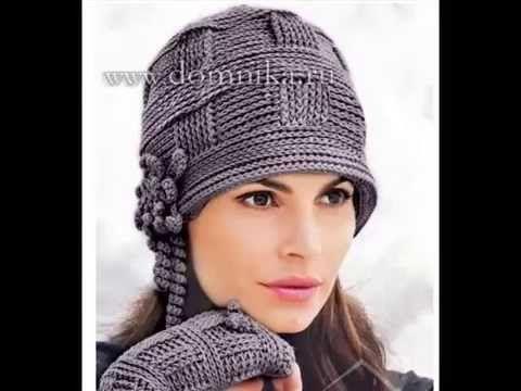 "Шапка ""Косы"" крючком ,how to crochet a hat ( Ш № 91) - YouTube"