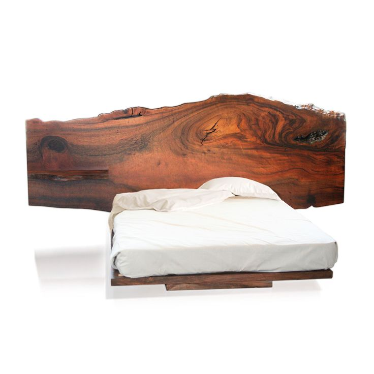 Natural Bed by Tucker Robbins :: Some slabs of wood are too beautiful to alter. Those rare pieces are carefully selected and set apart from our stock of salvaged wood to create these headboards. Wood is naturally beautiful and this bed is meant as an homage to that beauty :: Furniture New York