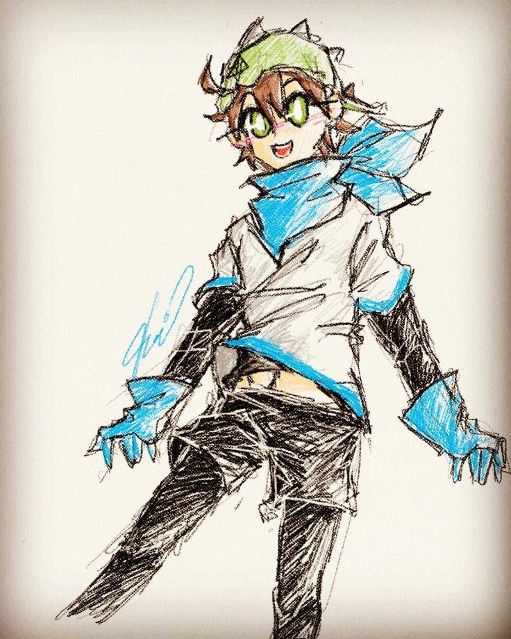 Boboiboy daun as underswap Sans(blueberry) Anime