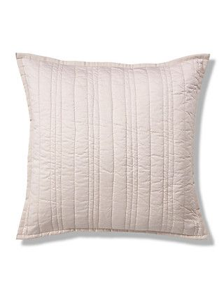 Natural Quilted Cotton Cushion Home