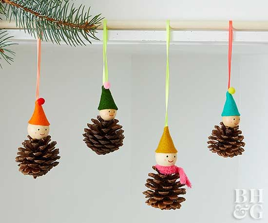 With a few pinecones and some felt accessories, you'll have a village of adorable pinecone people in no time.
