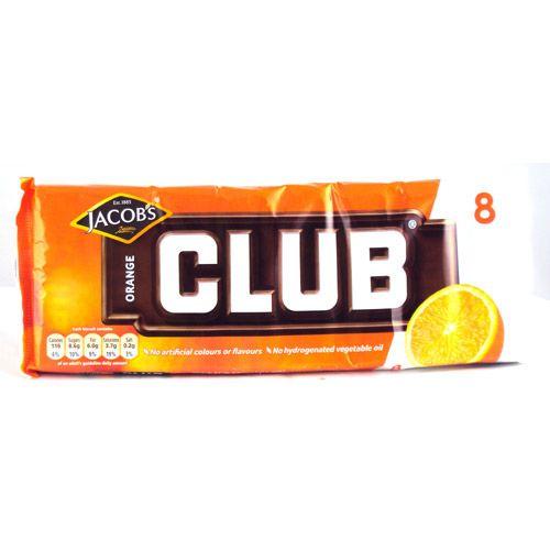 Jacobs Club Biscuits Orange 8 Pack