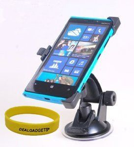 Dealgadgets Nokia Lumia 920 Car Mount Holder Windshield Dashboard Air Suction with Free Wristband From Dealgadgets by Dealgadgets. $14.98. Nokia Lumia 920 Car Mount   The Dealgadgets Nokia Lumia 920 car holder is made of good quality plastic. It's sturdy and durable. It is specially designed for Nokia Lumia 920. The suction cup of the Nokia Lumia 920 car mount holder is very strong. It can stick to windshield or dashboard firmly.   This Nokia Lumia 920 car dock is easy to install...