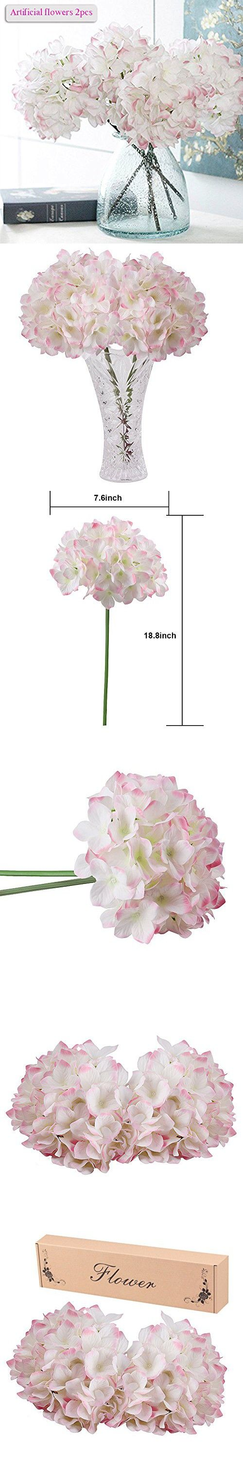 artificial hydrangea flowers meiwo 2 pcs nearly natural fake hydrangea silk flowers to shine your - Silk Arrangements For Home Decor 2